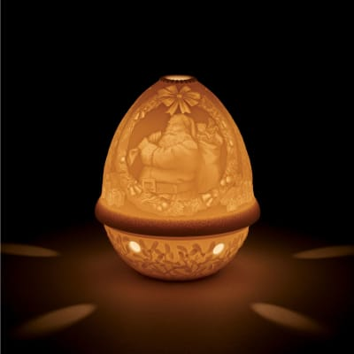 "Lladro ""Santa Claus"" Porcelain Lithophane Votive Light"