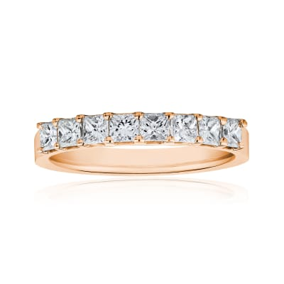 1.60 ct. t.w. Princess-Cut Diamond Ring in 14kt Rose Gold