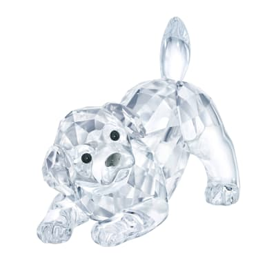 Swarovski Crystal Labrador Puppy Playing Figurine