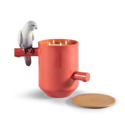 "Lladro ""Red Parrot"" Scented Treasure Candle"