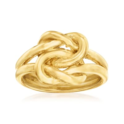 Italian 18kt Gold Over Sterling Love Knot Ring