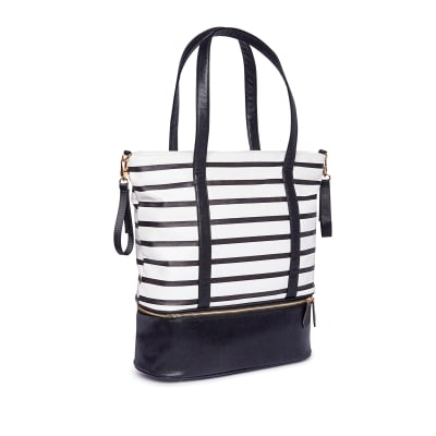 "Brouk & Co. ""Mia"" Faux Black Leather Mommy Bag"