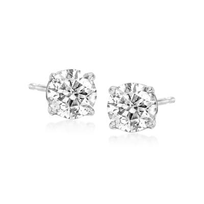 C. 1990 Vintage 1.00 ct. t.w. Diamond Stud Earrings in 14kt White Gold