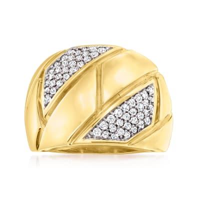 .50 ct. t.w. Diamond Brick-Pattern Ring in 14kt Yellow Gold