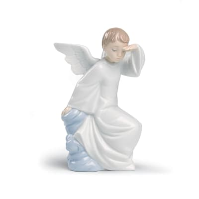 "Nao ""Watching Over You"" Porcelain Figurine"