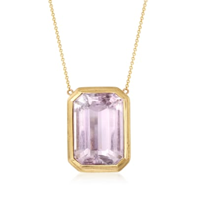 C. 1980 Vintage 36.70 Carat Amethyst Necklace in 14kt Yellow Gold