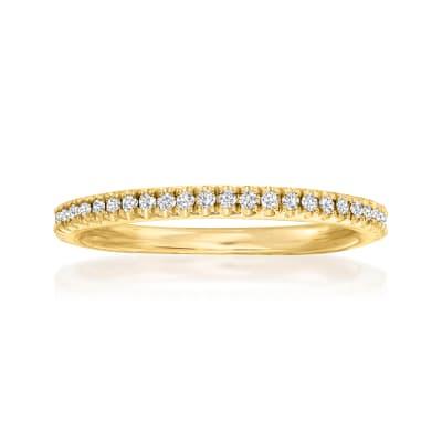 Henri Daussi .15 ct. t.w. Pave Diamond Wedding Ring in 14kt Yellow Gold