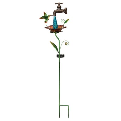 Regal Waterdrop Hummingbird Solar Garden Stake