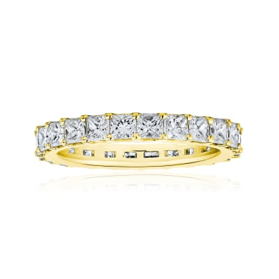 4.90 ct. t.w. Princess-Cut Diamond Eternity Band in 14kt Yellow Gold