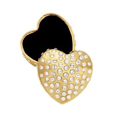 "Crystamas ""Forever Heart"" Swarovski Crystal Goldtone Heart Jewelry Box"