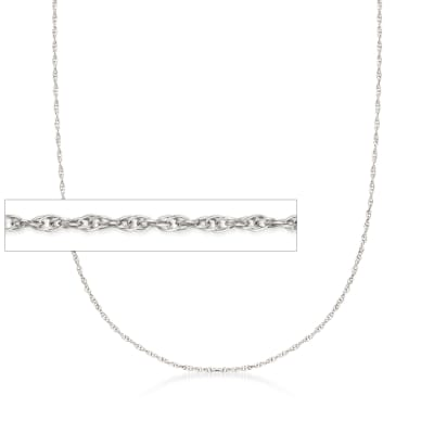 Italian 14kt White Gold Medium Rope Chain Necklace