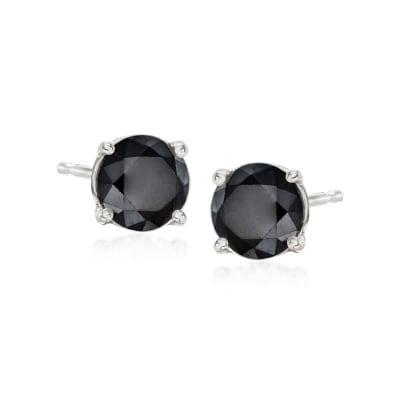 1.00 ct. t.w. Black Diamond Stud Earrings in Sterling Silver
