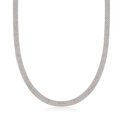 Sterling Silver Bismark-Link Necklace