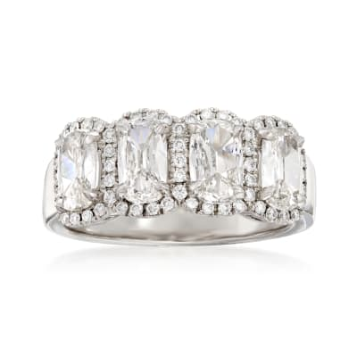 Henri Daussi 1.99 ct. t.w. Four-Stone Diamond Ring in 18kt White Gold