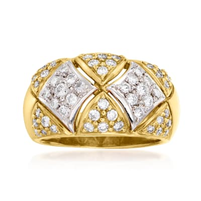 C. 1980 Vintage 1.00 ct. t.w. Diamond Ring in Platinum and 18kt Yellow Gold