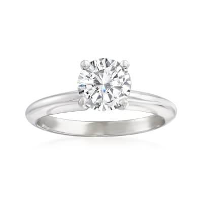 1.02 Carat Certified Diamond Solitaire Ring in Platinum