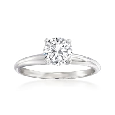 1.00 Carat Diamond Solitaire Ring in Platinum