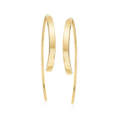 14kt Yellow Gold Threader Earrings