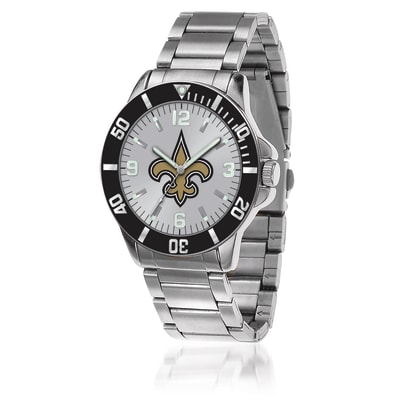Men's 46mm NFL New Orleans Saints Stainless Steel Key Watch