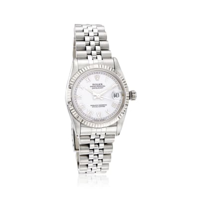 Pre-Owned Rolex Datejust Women's 31mm Automatic Stainless Steel Watch with 18kt White Gold