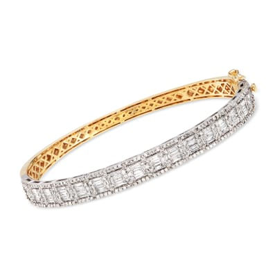 2.00 ct. t.w. Diamond Bangle Bracelet in 14kt Two-Tone Gold