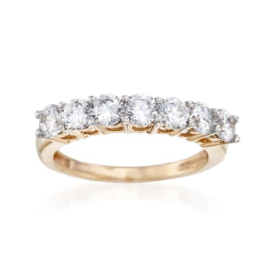 1.00 ct. t.w. CZ Seven-Stone Ring in 14kt Yellow Gold