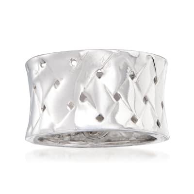 Italian Sterling Silver Basketweave Ring