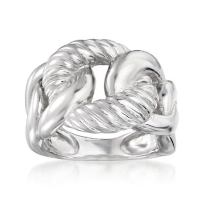 Sterling Silver Interlocking Circle Ring