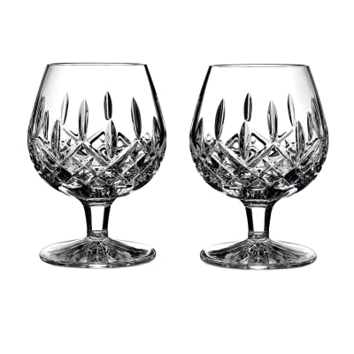 "Waterford Crystal ""Lismore"" Set of 2 Brandy Glasses"