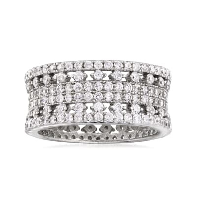 1.53 ct. t.w. CZ Eternity Band in Sterling Silver