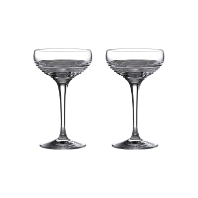 "Waterford Crystal ""Mixology Circon"" Set of 2 Coupe Glasses"