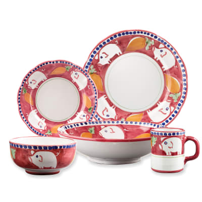 "Vietri ""Campagna Porco"" Earthenware Dinnerware from Italy"