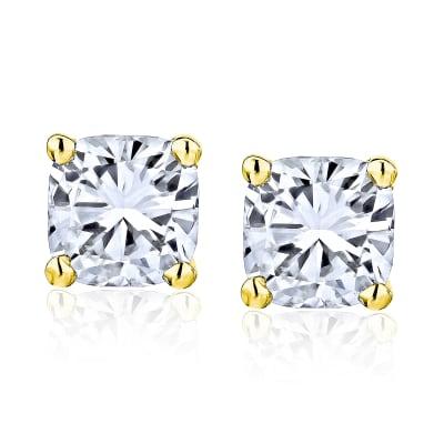 1.40 ct. t.w. Diamond Stud Earrings in 14kt Yellow Gold