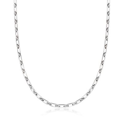 C. 1990 Vintage Cartier 18kt White Gold Chain Necklace