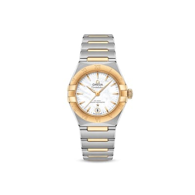 Omega Constellation Women's 29mm Automatic Stainless Steel and 18kt Yellow Gold Watch
