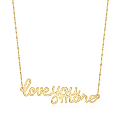 "14kt Yellow Gold ""Love You More"" Necklace"