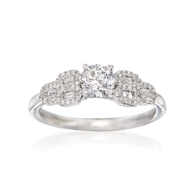 .75 ct. t.w. Diamond Engagement Ring in 14kt White Gold