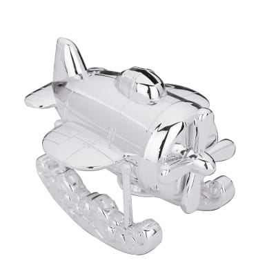 """Reed & Barton """"Zoom Zoom"""" Airplane Coin Bank"""