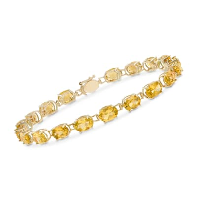 13.00 ct. t.w. Oval Citrine Bracelet in 14kt Yellow Gold