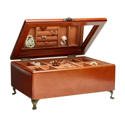 "Mele & Co. ""Kinsley"" Wooden Jewelry Box"