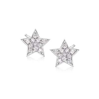 .20 ct. t.w. Diamond Star Stud Earrings in Sterling Silver