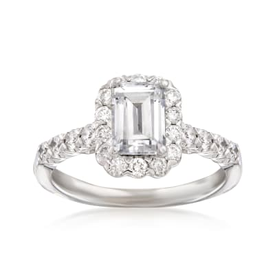 .67 ct. t.w. Diamond Engagement Ring Setting in 14kt White Gold