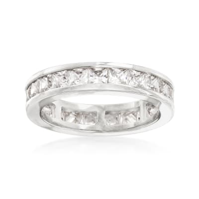 3.00 ct. t.w. Princess-Cut CZ Eternity Band in Sterling Silver
