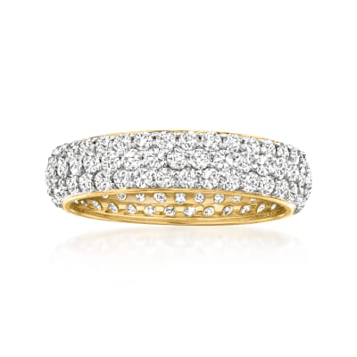 2.00 ct. t.w. Micropave Diamond Eternity Band in 14kt Yellow Gold