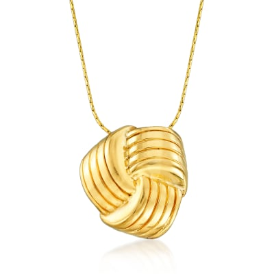 Italian 18kt Gold Over Sterling Love Knot Necklace