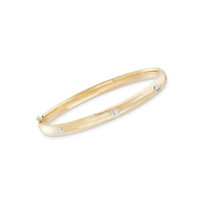 Child's 14kt Two-Tone Gold Bangle Bracelet