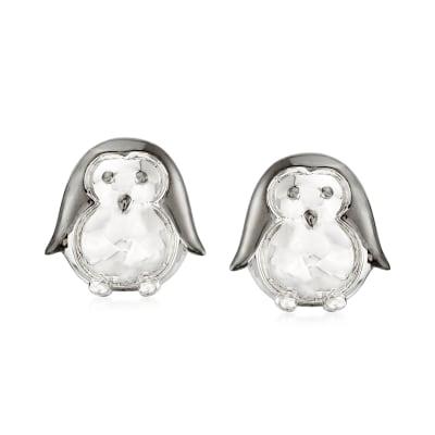 Sterling Silver Penguin Earrings