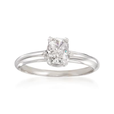 1.03 Carat Diamond Solitaire Ring in 14kt White Gold