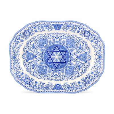 """Spode """"Judaica"""" Oval Platter"""