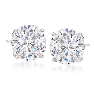 6.00 ct. t.w. CZ Stud Earrings in Sterling Silver